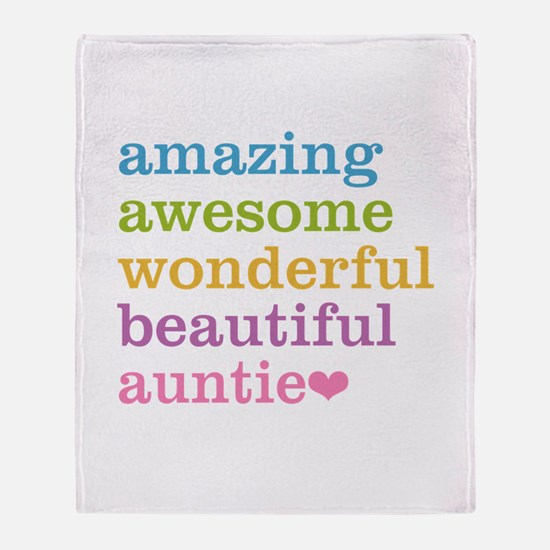 Auntie - Amazing Awesome Throw Blanket