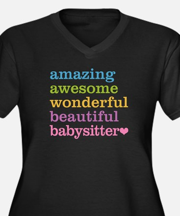 Babysitter - Women's Plus Size V-Neck Dark T-Shirt