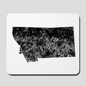 Distressed Montana Silhouette Mousepad