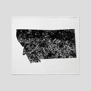 Distressed Montana Silhouette Throw Blanket