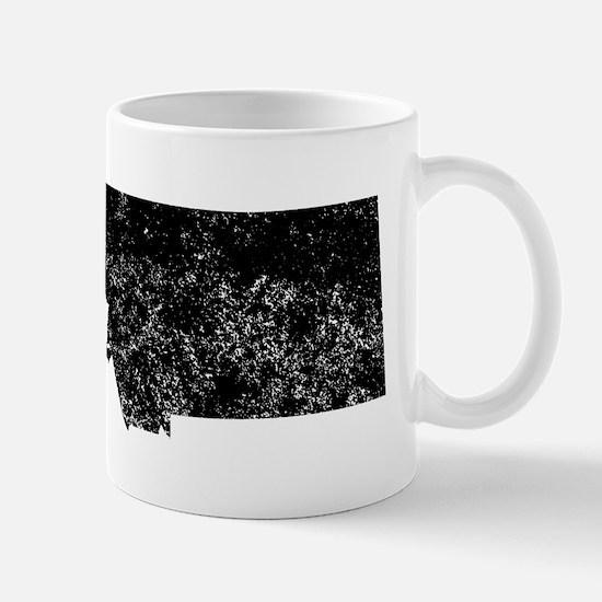 Distressed Montana Silhouette Mugs