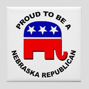 Proud Nebraska Republican Tile Coaster