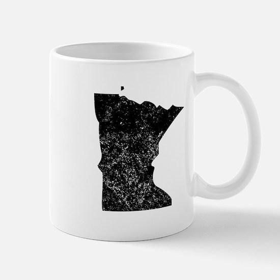 Distressed Minnesota Silhouette Mugs