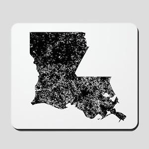 Distressed Louisiana Silhouette Mousepad