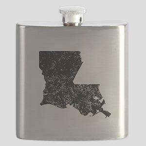 Distressed Louisiana Silhouette Flask