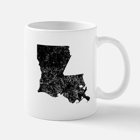 Distressed Louisiana Silhouette Mugs