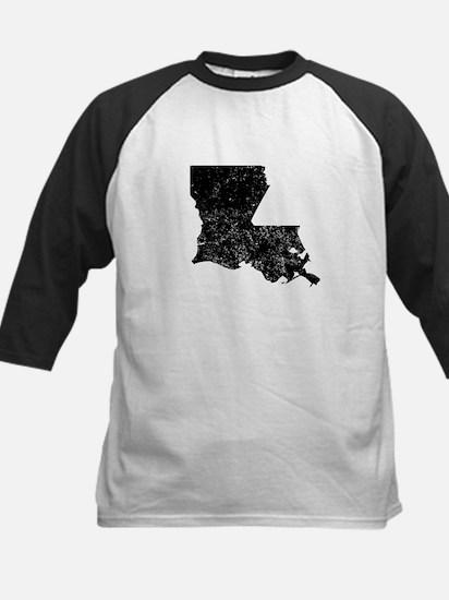 Distressed Louisiana Silhouette Baseball Jersey