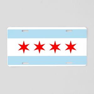 Flag of Chicago Stars and Stripes Aluminum License