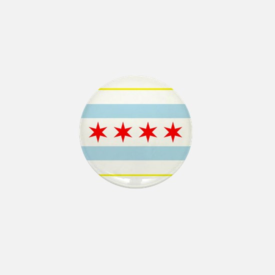 Flag of Chicago Stars and Stripes Mini Button