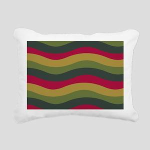 Avocado Waves Rectangular Canvas Pillow