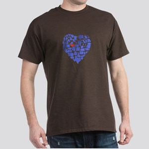 Nebraska Heart Dark T-Shirt