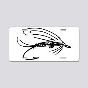 Abstract Wet Fly Lure Aluminum License Plate