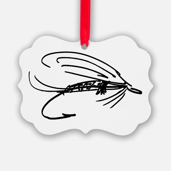 Abstract Wet Fly Lure Ornament