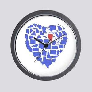 Nevada Heart Wall Clock