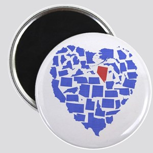 Nevada Heart Magnet