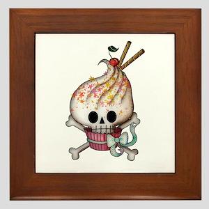 Skull Cupcake Framed Tile