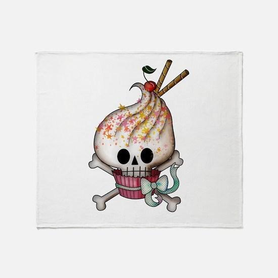 Skull Cupcake Throw Blanket