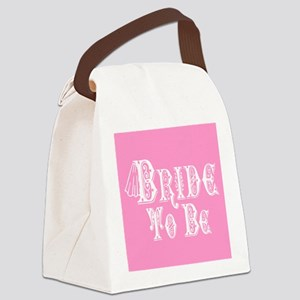 Bride To Be With Veil, Fancy White Type Pink Canva