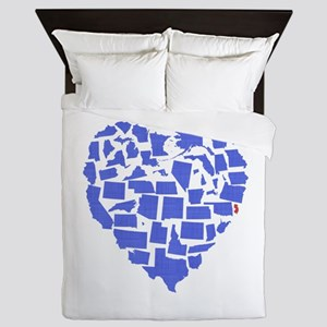 New Jersey Heart Queen Duvet