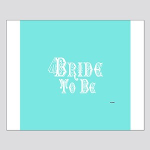 Bride To Be With Veil, Fancy White Type Teal Poste
