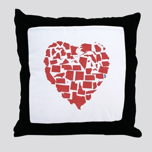 New Jersey Heart Throw Pillow