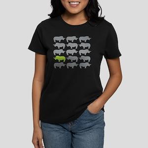 One Green Rhino in the herd T-Shirt