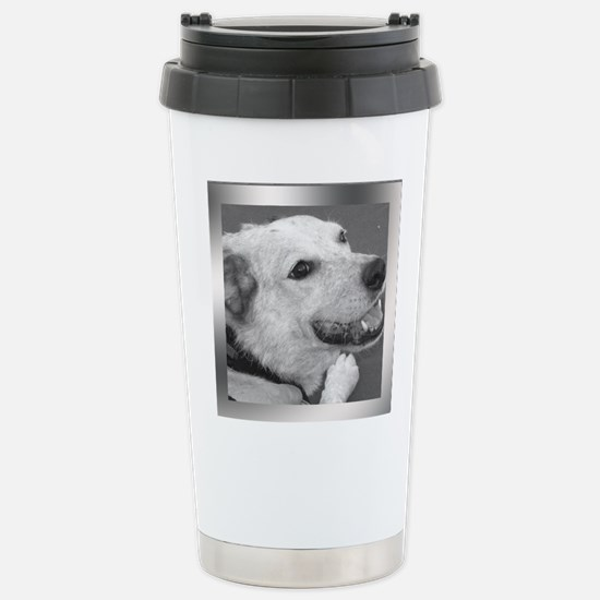 Your Photo in a Silver Frame Travel Mug