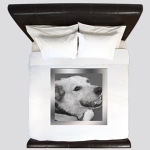 Your Photo in a Silver Frame King Duvet