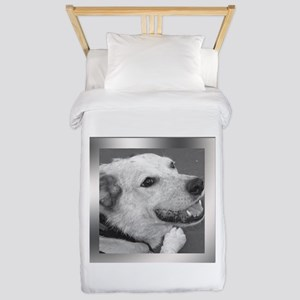 Your Photo in a Silver Frame Twin Duvet