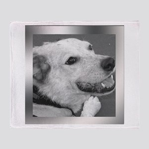 Your Photo in a Silver Frame Throw Blanket