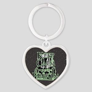 Keep Calm and Heart Keychain