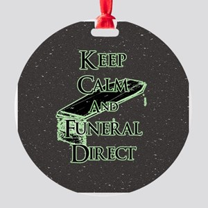 Keep Calm and Round Ornament