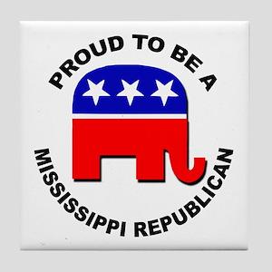 Proud Mississippi Republican Tile Coaster