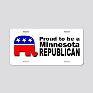 Proud Minnesota Republican Aluminum License Plate