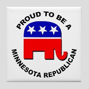 Proud Minnesota Republican Tile Coaster