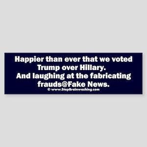 Trump over Hillary Sticker (Bumper)