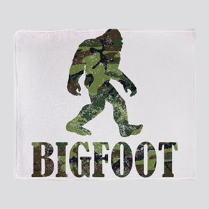 Camouflage Bigfoot Throw Blanket