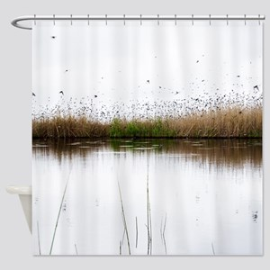Many Birds Flying Shower Curtain