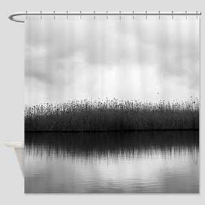 Many Birds Perched Shower Curtain
