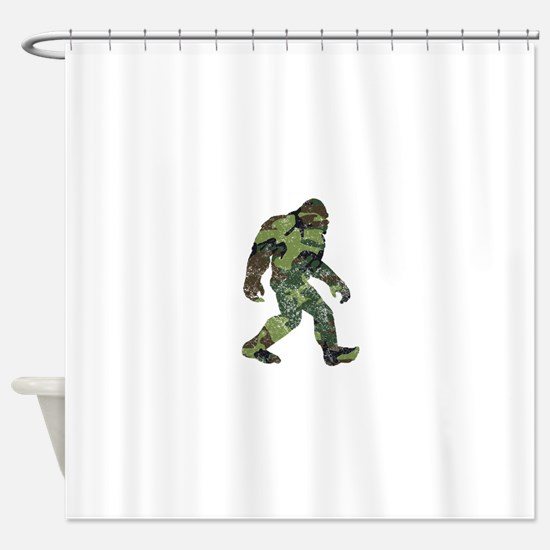 Camo Bigfoot Shower Curtain