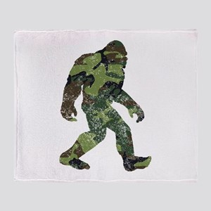 Camo Bigfoot Throw Blanket