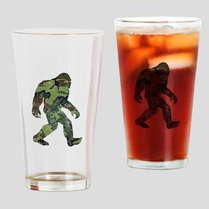 Camo Bigfoot Drinking Glass