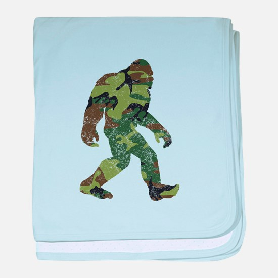 Camo Bigfoot baby blanket