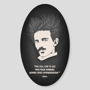 Tesla -Horrors Sticker (Oval)