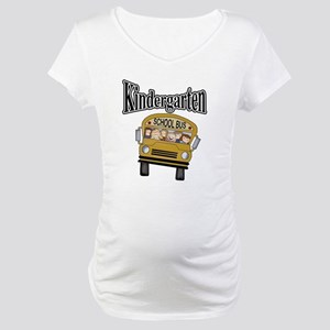 School Bus Kindergarten Maternity T-Shirt