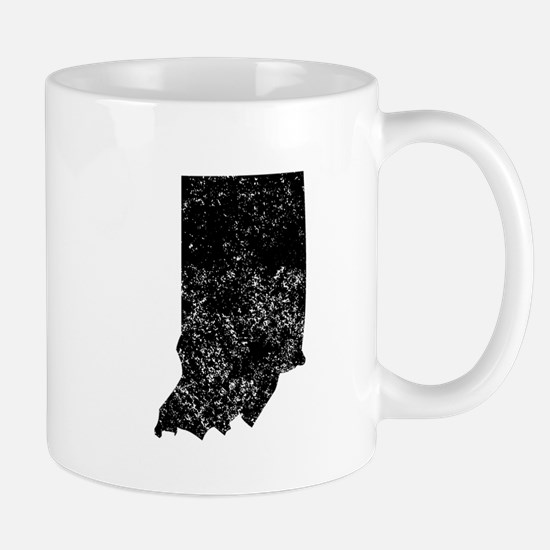 Distressed Indiana Silhouette Mugs