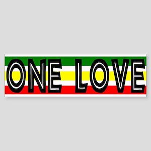 ONE LOVE Reggae Bumper Sticker