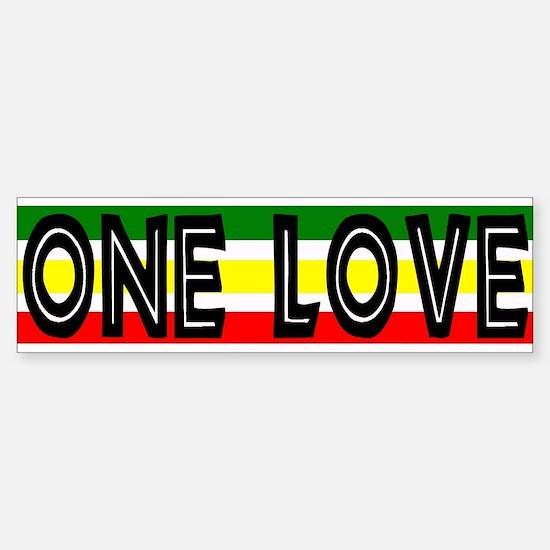 ONE LOVE Reggae Bumper Car Car Sticker