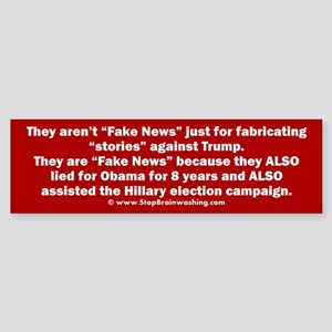 Why News is Fake Sticker (Bumper)
