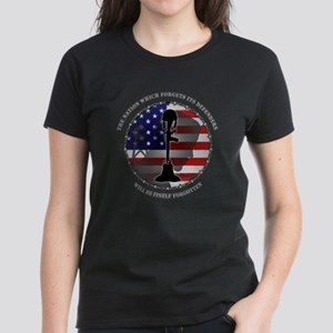 The Nation Which Forgets Its Women's Dark T-Shirt